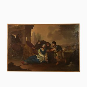 King Darius Death Oil on Canvas, Late 1800s
