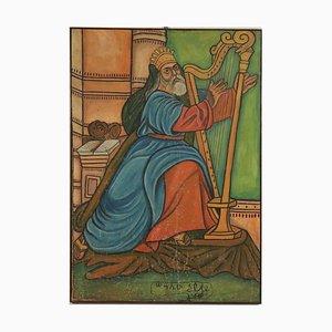 King David spielt Harfe Canvas