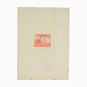 Disegno di Ugo La Pietra, tecnica mista, 1963