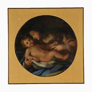 Madonna col Bambino, Olio su tavola, XIX secolo