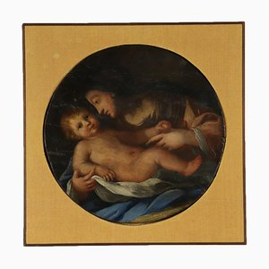 Madonna with Child, Oil on Board, 19th Century