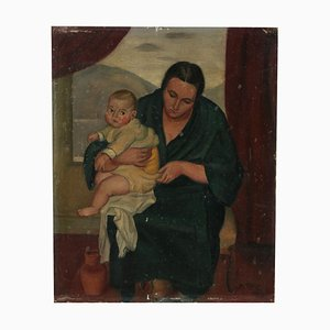 Madonna with Child by Tozzi Painting, 1924