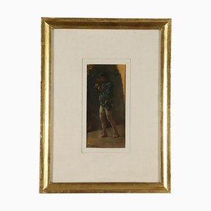Sketch by Alceste Campriani, Man with Pipe, 19th Century
