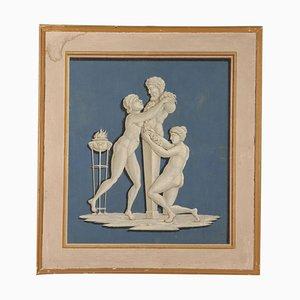 Cornice mitologica neoclassica con elemento decorativo, XVIII secolo