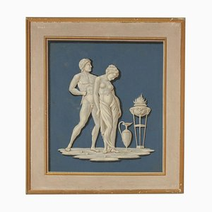 Neoclassical Decorative Element Scene with Figures, 18th Century
