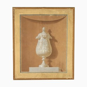 Dekoratives Neoklassizistisches Wandgemälde, 18. Jahrhundert