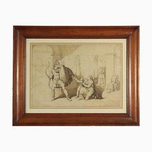 Drawing by Raffaele Postiglione, Leaving for War, 19th Century