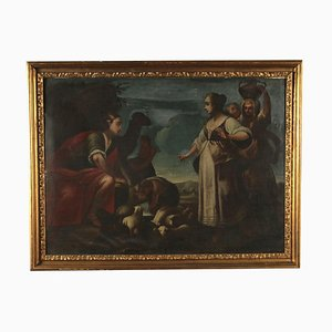 Eliezer and Rebecca, At the Well Painting, 18th Century