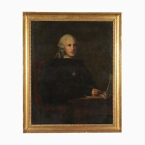 Portrait eines Mannes, Öl auf Leinwand, 18. Jahrhundert