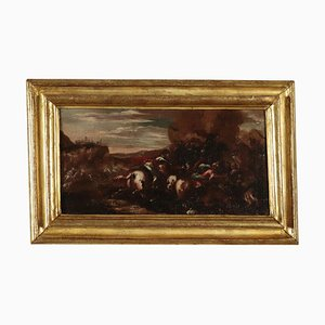 War Scene Oil Painting, Late 17th Century