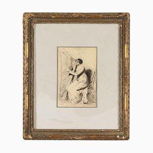 Disegno di Stefano Colombino, china su carta, china, XIX secolo