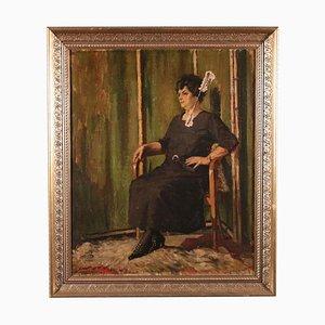 Frauenportrait, erste Hälfte des 20. Jahrhunderts, Leinen