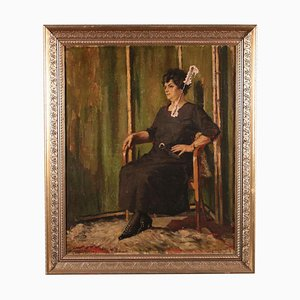 Woman Portrait, First Half 20th Century, Canvas
