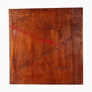 Opera di Ugo Carrega, Incisione e smaltatura a bordo, arte contemporanea