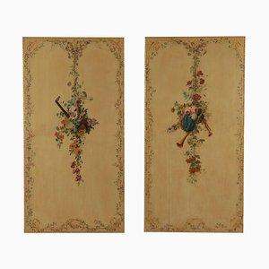 Dekorative Boiserie Platten, Italien, 19. Jahrhundert