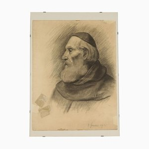 Prelate Face, Drawing on Paper, 1916