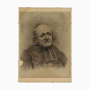 Prelate Face, Dessin sur Papier, 19ème Siècle