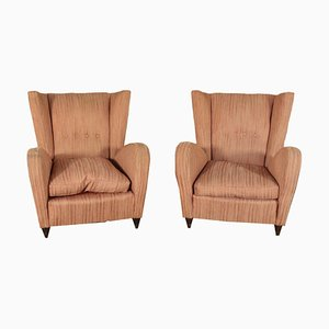 Bergere Armchairs, Italy, 1950s, Set of 2