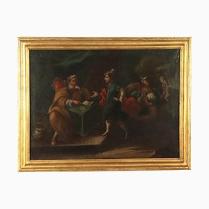 Genre Scene with Figures, 18th Century, Oil on Canvas
