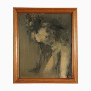 Giuseppe Ajmone, olio su tela