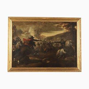 Scena della battaglia, olio su tela, scuola lombarda, XVII secolo