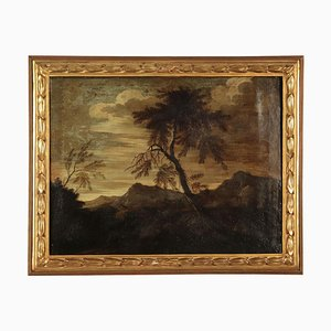 Landschaft mit Figuren, Öl auf Leinwand, Italienische Schule, 17. Jahrhundert