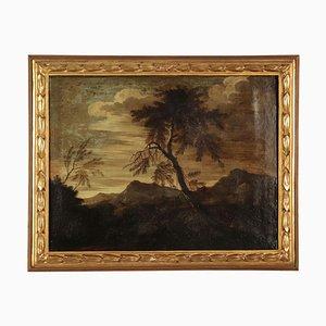 Paesaggio con figure, olio su tela, scuola italiana, XVII secolo