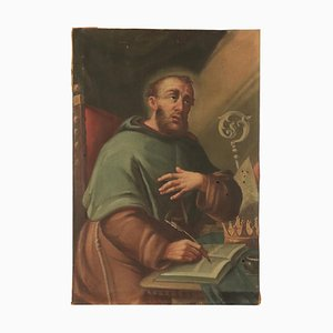 San Vescovo, olio su tavola, scuola italiana, XVII secolo