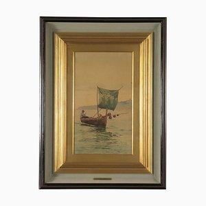 Acquarello su carta di Vincenzo Loria, Italia, fine XIX secolo, Italia