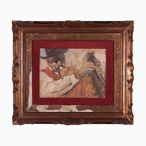 Ubaldo Oppi, Oil on Plywood, 1930s