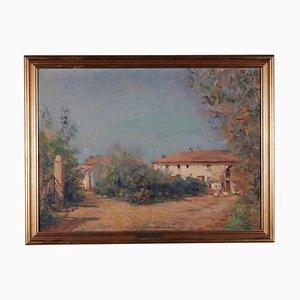 Giuseppe Ferrata, olio su compensato, XX secolo