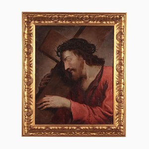 Christ Carrying the Cross, Oil on Copper, 17-18th Century