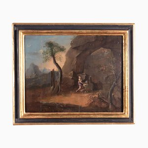 Penitent Magdalene, Oil on Board, Venetian School 18th Century