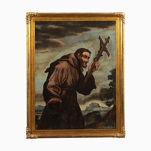 Heiliger Franziskus, Italienische Mittelschulschule, 18. Jahrhundert, Öl auf Leinwand
