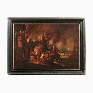 Fuga di Enea di Troia, olio su tela, XVII secolo