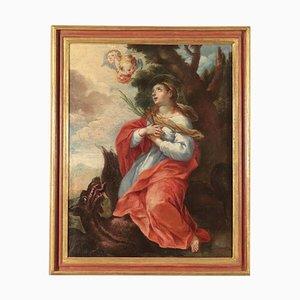 Saint Margaret, Öl auf Leinwand, 18. Jahrhundert