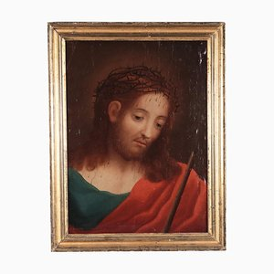 Ecce Homo, Oil on Canvas Applied on Panel, 17th Century
