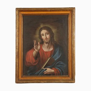 Christ Blessing, Oil on Canvas, 17th Century