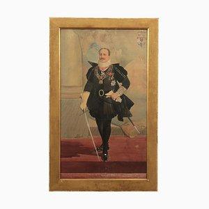 Ritratto maschile, acquarello su carta, XX secolo