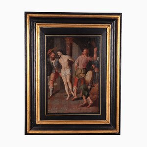 Christus an der Säule, Öl auf Eiche, 16. Jahrhundert