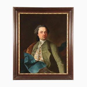 Ritratto di gentiluomo, olio su tela, XVIII secolo
