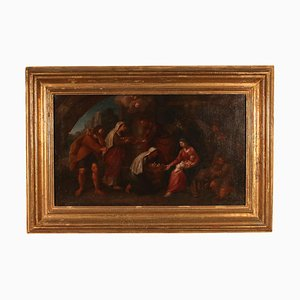 Adoration of Shepherds, Emilian School, 18th Century, Oil on Canvas