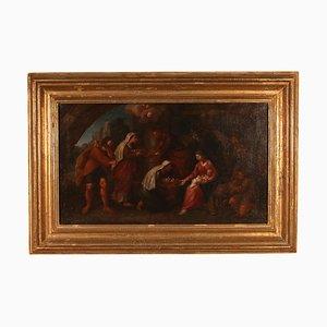 Adorazione di pastori, scuola emiliana, XVIII secolo, olio su tela