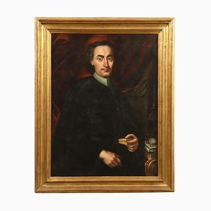 Portrait of a Canon, Oil on Canvas, 18th Century
