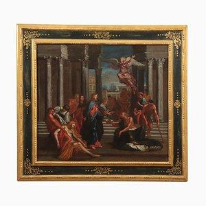 Gesù guarisce i malati, olio su tela, XVIII secolo