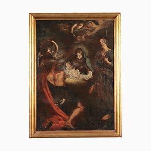 Adorazione di pastori, olio su tela, XVII secolo