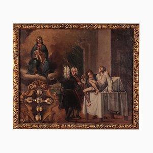 Guarigione miracolosa, XVIII secolo, olio su tela