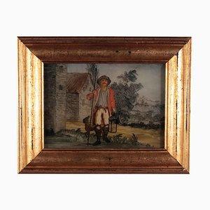 Figura con cane, XVIII secolo