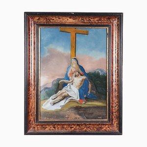 Lamentation Over Dead Christ, Underglass Painting ,18th Century