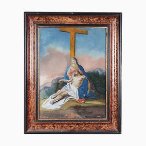 Lamentation Over Dead Christ, Underglass Painting, XVIII secolo